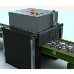 Установка для поточного LIBS анализа элементного состава материалов.